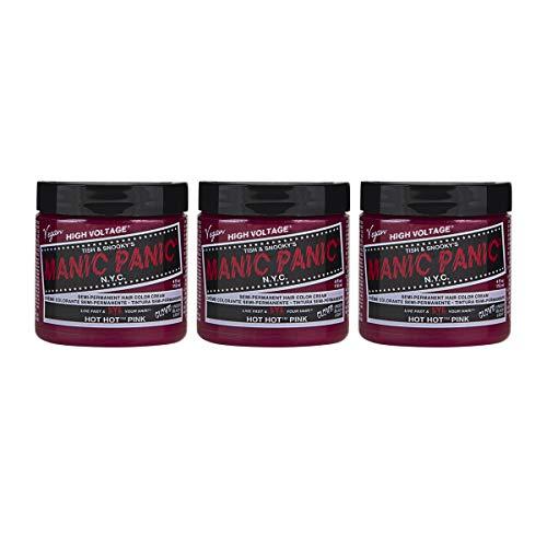 Manic Panic Hot Hot Pink Hair Dye Classic 3 Pack