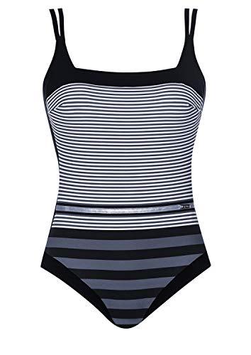 OPERA Badeanzug Straight and Clean Cup E, Farbe schwarz/grau, Größe 42