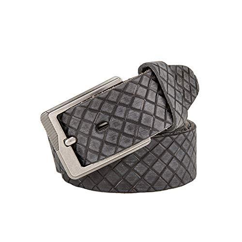 Lässige Gürtel Herren Geschnitzte Exquisite Muster Ledergürtel geeignet für formelle Casual Occasion Boutique Bekleidungszubehör, Lässige Mode-Accessoires (Größe : 125cm)