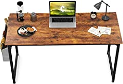 Modern Simple Desk: CubiCubi computer desk delivers a peaceful experience to you wherever at home or office. The rigid metal frame and raliable MDF boards give it a solid structure as well as beautiful appearance. With the extra storage bag and iron ...
