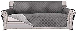 Sofa Covers,Slipcovers,Reversible Quilted Furniture Protector,Water Resistant,Improved Couch Shield with Elastic Straps, A...