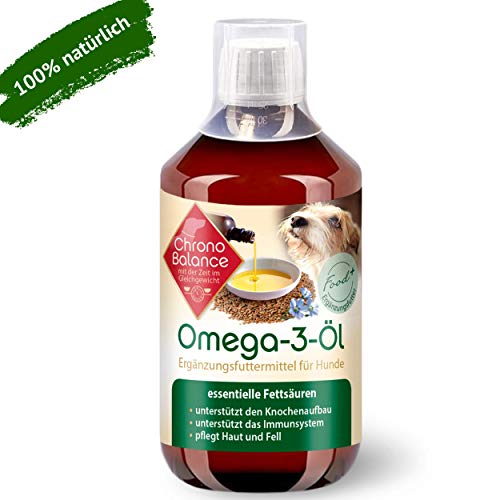 ChronoBalance® 500ml Omega-3-Öl für Hunde - natürliche Nahrungsergänzung - pflegt Haut und Fell - unterstützt das Immunsystem