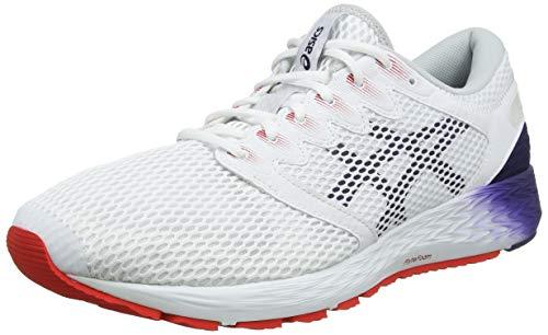 Asics Roadhawk FF 2, Zapatillas de Running para Hombre, Blanco (White/Peacoat 020), 42.5 EU