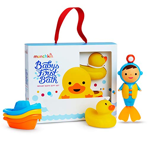 Munchkin Baby's First Bath, Bath Toy Set, Includes Gift Box for Baby Registries and Gifting