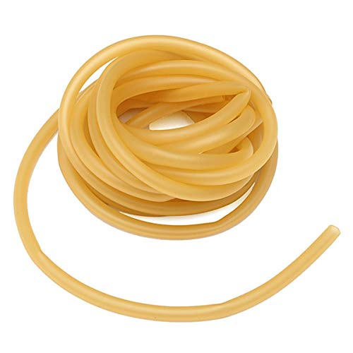 Yosoo 6x9mm Natural Latex Rubber Gummiband Tube Tubing Ersatzgummi für Steinschleuder Zwille Schleuder, gelb, 3m (1 Stück)