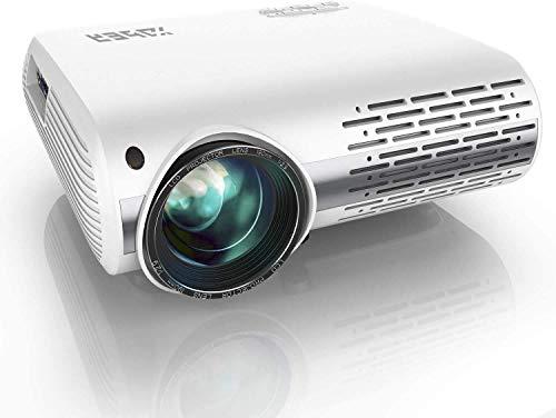 Beamer,YABER Beamer 8000 Lumen,Native 1080P Beamer,Beamer Heimkino Full HD mit ±50°4D Trapezkorrektur Unterstützt 4k & Zoom,LCD LED Projektor Kompatibel mit Telefon,PC,TV Box,PS4