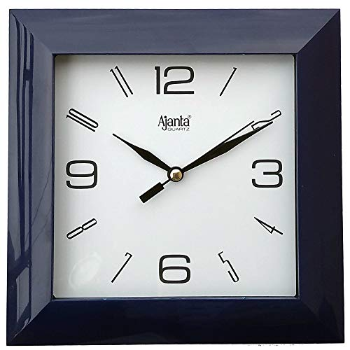 Ajanta Plastic Wall Clock (172 mm x 172 mm x 35 mm 1847 - BLACK)