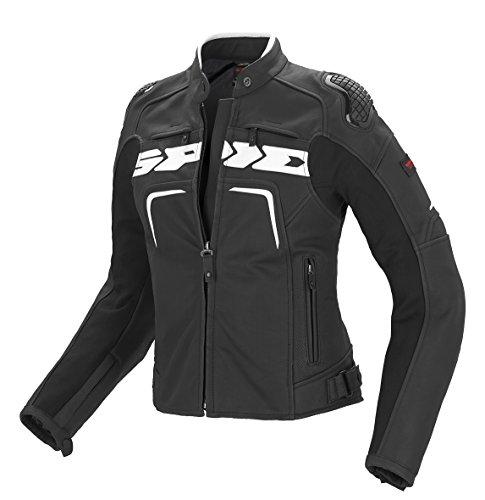 SPIDI P147-011 Motorrad Lederjacke Evorider Lady, Schwarz/Weiß, 44