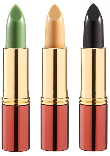 3 x Ikos denkender Lippenstift nachtrosa, apricot und kirschrot DL2, DL4, DL5