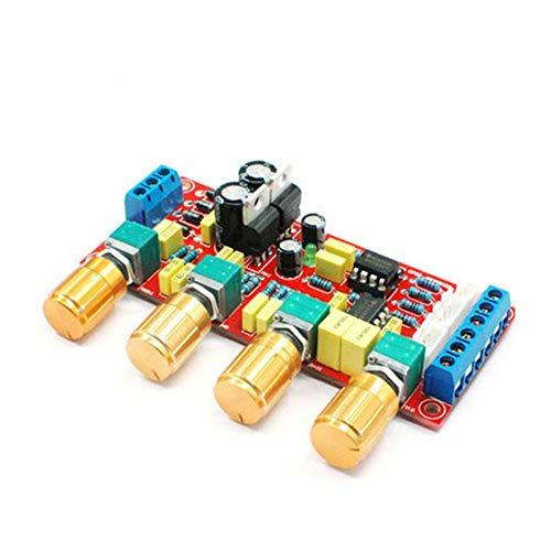 NE5532 OP-AMP HiFi Verstärker 12V-18V Volume Tone EQ Control Vorverstärkerplatine Bausatz und Fertigprodukt - Rot