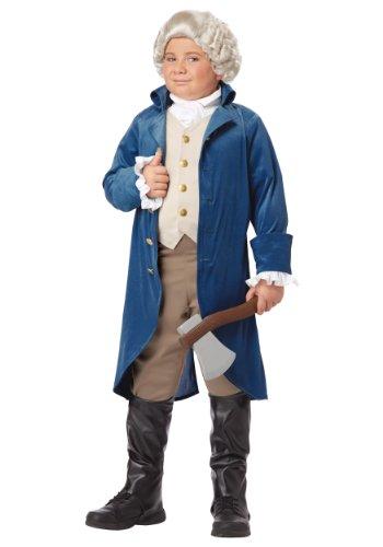 California Costumes George Washington/Thomas Jefferson/Alexander Hamilton and Colonial Child Costume, 2X
