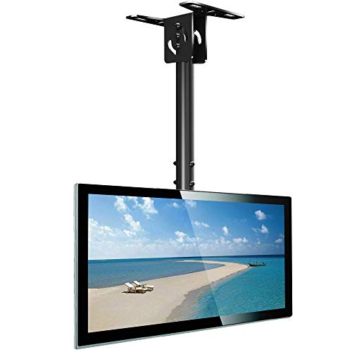 "Everstone Full Motion TV Ceiling Mount for 23 to 55"" TV Swivel and Tilting Bracket Fit Most Plasma LED LCD Flat Screen and Curved TVs, Up to VESA 400x400mm, HDMI Cable and Level"