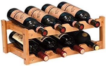 Amazon Com Kework 8 Bottles Wine Rack 2 Tier Nature Bamboo Wine Display Rack Tabletop Wine Rack Desktop Countertop Free Standing Wine Storage Shelf 8 Bottle Home Kitchen