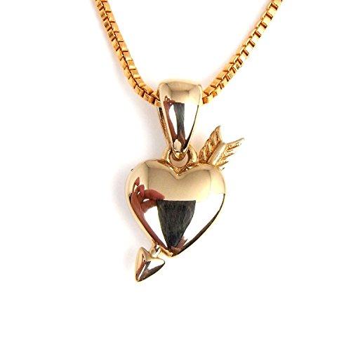 ゴールド ハートアロー ベネチアン チェーン ネックレス 金 ペンダントトップ 人気 ブランド bd-677