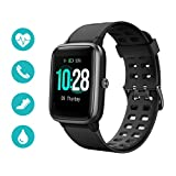 Huyeta Smart Watch mit Pulsmesser 1,3 Touchscreen Sport Uhr Smart Uhr 5ATM Wasserdicht Fitness...