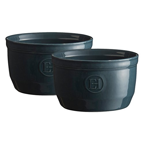 "Emile Henry Made in France 8.5 oz Ramekin (Set of 2), 4"" by 2""5', Blue Flame,974010"