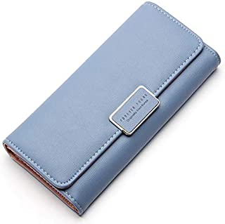 Victory Royal Women Ladies Wallets and Clutches/Imported Wallet Long Women's Clutches Sky Blue