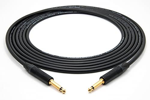 Mogami 3082 High-End Cable para altavoces coaxial | Neutrik 6,3mm TS |...