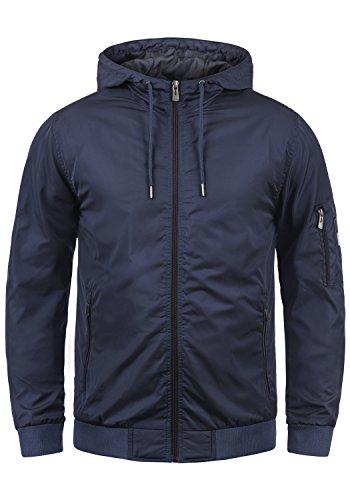Blend Razy Herren Übergangsjacke Herrenjacke Jacke mit Kapuze, Größe:XL, Farbe:Mood Indigo (74648)