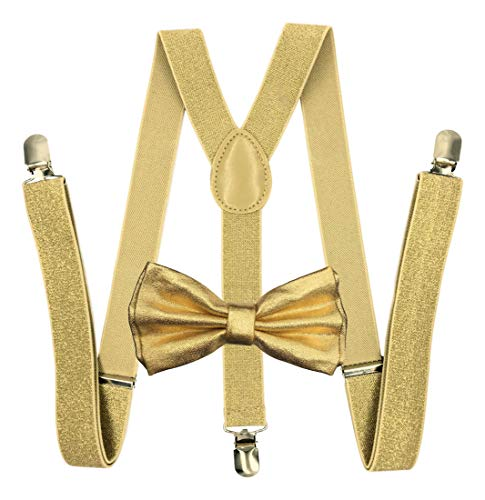 Metallic Gold Bow Tie & Matchin…