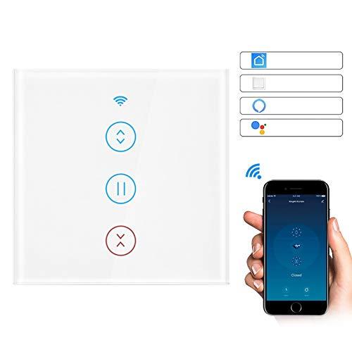 Donpow Interruptor inteligente WiFi, interruptor de cortina táctil Bresuve actualizado compatible con Alexa/Google Home Wall Switch Control de aplicación para puerta de motor de rodillo de cortina