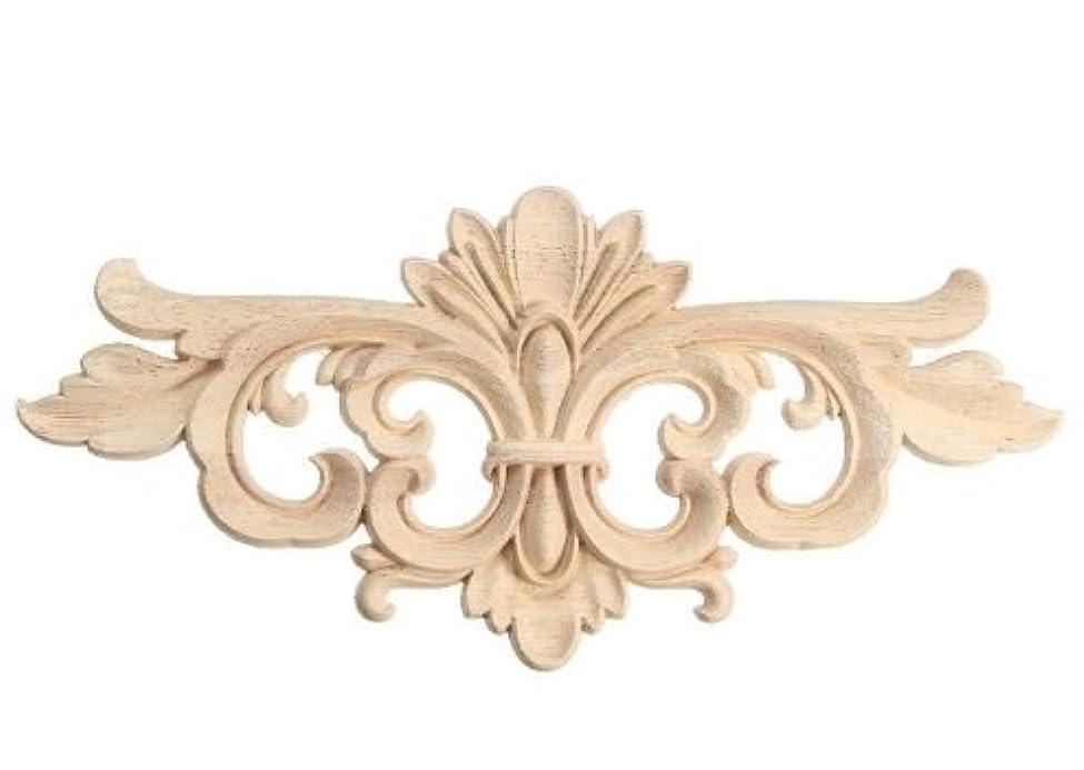 頻繁にもっと少なく競争力のあるウッドデコレーション ロココモチーフ 木製家具装飾 (横22cm)モールディング レリーフ 木彫り 家具飾り DIY