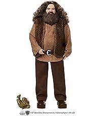 HARRY POTTER GKT94 - Harry Potter Rubeus Hagrid verzamelpop, ongeveer 30,5 cm, draagt een shirt met riem en een mouwloos vest, met drakenaccessoire, meerkleurig