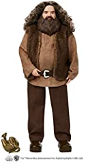 Fans and collectors can relive their favorite movie moments and imagine their own magical stories with Harry Potter dolls! Rubeus Hagrid doll comes dressed in his signature look, a belted shirt and vest, pants and boots. Special details, like his bea...