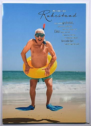 A4 XXL Ruhestandskarte lustig Jetzt wird gelebt - Badefreuden