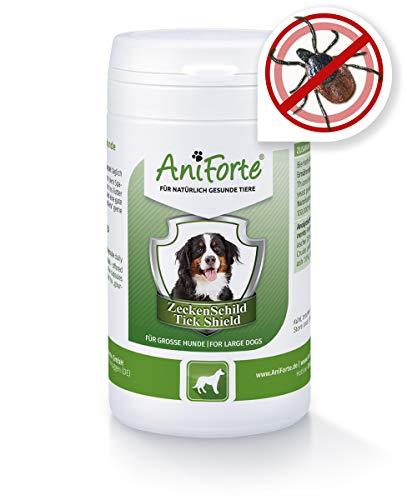 AniForte Zeckenschutz für Hunde (Groß 35-50 kg) 60 Kapseln - Natürliches Zeckenmittel, Zeckenschild, Tabletten gegen Zecken, Vorbeugung Zeckenbiss, Zeckentabletten zur Zeckenabwehr, Anti Zecken Hund