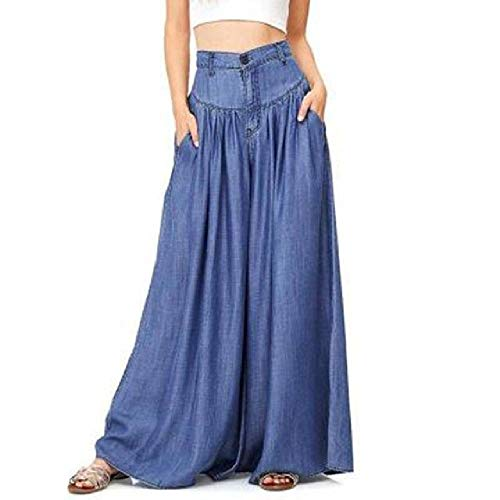 NOBRAND Pantalones de Mujer Pantalones Informales de Dos Colores con Cremallera Media en la Cintura Pantalones de Mujer Pantalones Acampanados para Mujeres