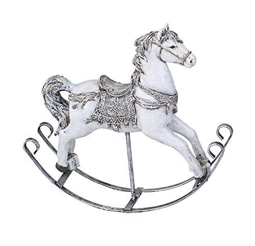 KLP Schaukelpferd Nostalgie Weihnachts Deko Pferd Ross Artikel Figur Skulptur Tier