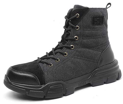 SUADEX おしゃれ 安全靴 ハイカット あんぜん靴ブーツ ミドルカット作業靴 冬用 安全ブーツ�K 軽量 半長靴 安全 短靴 作業 ショートブーツ あんぜん はいカット安全 鋼先芯 耐摩耗 ケブラー防刺 耐滑
