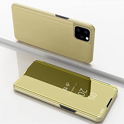 Conveniente para La Caja del TeléFono PortáTil Iphone12, Conveniente para La Caja del TeléFono del Espejo GalváNico De iPhone 11 con El Tenedor Elegante