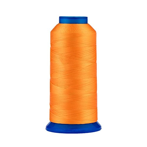 Selric [1500Yards / 30 Colors Available] UV Resistant High Strength Polyester Thread #69 T70 Size 210D/3 for Upholstery, Outdoor Market, Drapery, Beading, Purses, Leather (Orange)