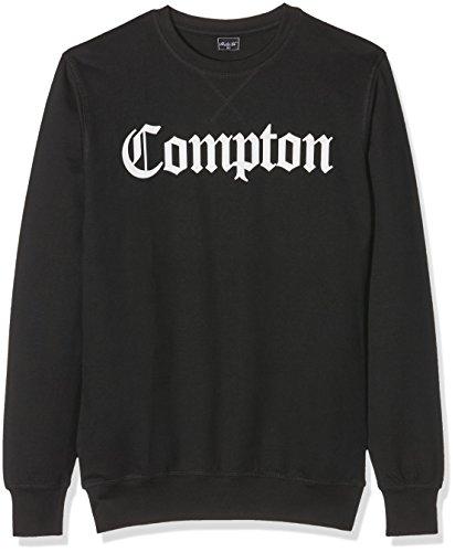 Mister Tee Herren Compton Crewneck Sweatshirts, Black, XS