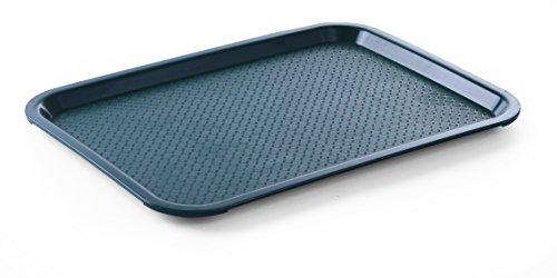 HENDI Serviertablett, Tablett, Temperaturbeständig bis 80°C, Fastfood, Polypropylen, 265x345mm, Grün