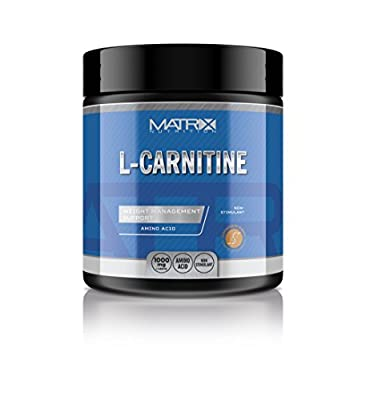 Matrix Nutrition L-Carnitine - Fat Burner Weight Loss - Amino Acid - 2 Tablets 500mg Serving. (240 Tablets)