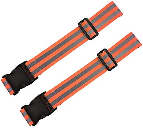EKIND Adjustable Elastic Lightweight High Visibility Reflective Belt Backpack Strap for Running product image