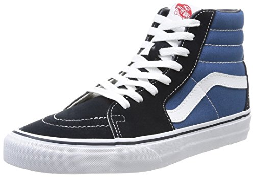 Vans U Sk8 Hi - Baskets Mode Mixte Adulte - Bleu (Navy) - 42.5 EU (Taille Fabricant : 9.5 US)