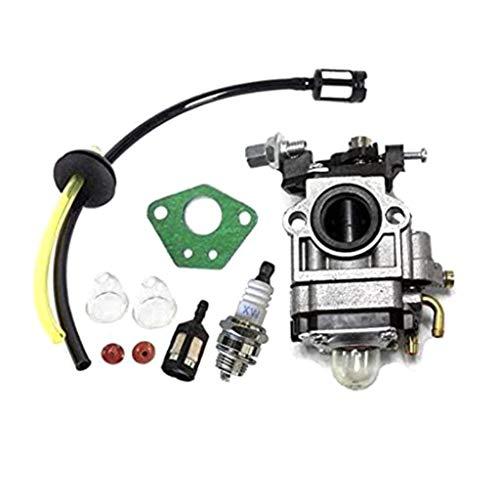WE-WHLL Kit de carburador Cortador de Cepillo 52cc 49cc 43cc con Manguera de Sellado, bujía, Accesorios de Filtro de Gasolina, Piezas