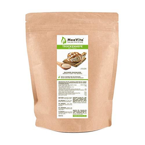 MeaVita levadura seca de panadería, levadura de pan, sin gluten, 500g en bolsa