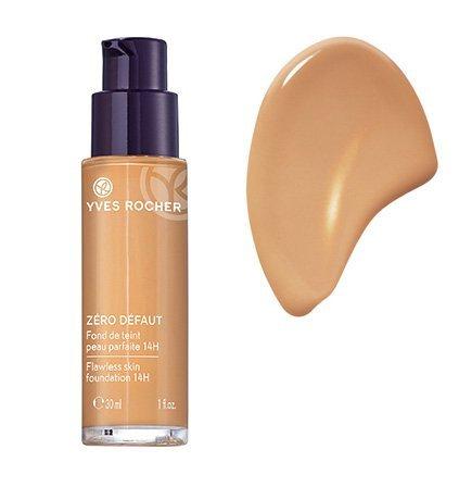Yves Rocher COULEURS NATURE Make-up-Fluid PERFEKTE HAUT 14h Doré teint très clair, deckende Foundation, 1 x Glas Pump-Flacon 30 ml
