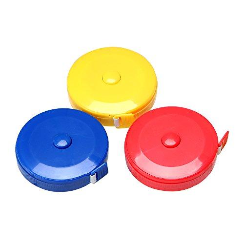 Tragbares Maßband, 1,5 m, einziehbar, metrisch, Mini-Maßband (zufällige Farbauswahl)