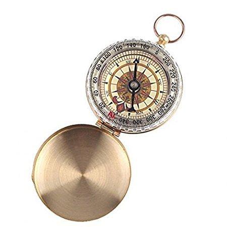 Bussola cipolla metallo oro bronzo antica tascabile vintage da taschino classica