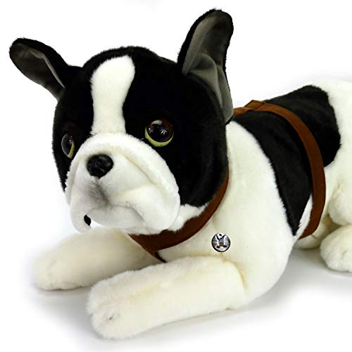 Keel Toys Plush Toy Dog Bulldog Soft Toy Lying Down 30 CM