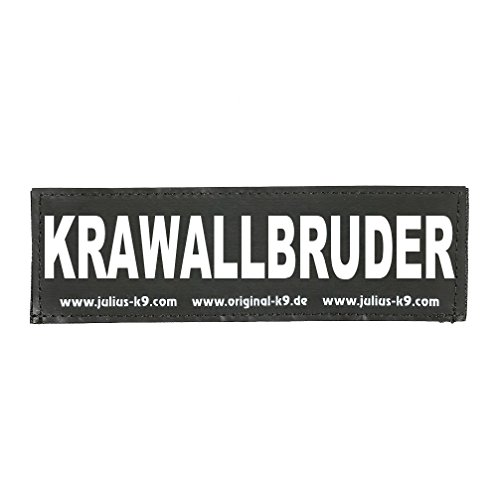 Julius-K9 162LR-K-36739 Klettaufschrift, KRAWALLBRUDER, klein, schwarz