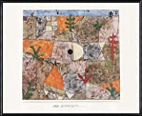 ポスター パウル クレー Sudliche Garten 1994 額装品 アルミ製ハイグレードフレーム(ブラック)