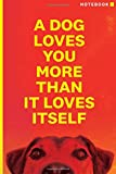 A Dog Loves You: Notebook / Journal / Diary: Ricky Gervais Inspired Notepad for Fans