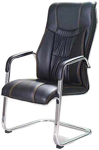Xiuyun Drehstuhl Gaming Chair Aufgaben-Stuhl Innenministerium-Schreibtisch-Stuhl Computer Stuhl PU-Material mit 70 cm hoch zurück Großsitz Empfang Stuhl Ultimative (Color : Black)